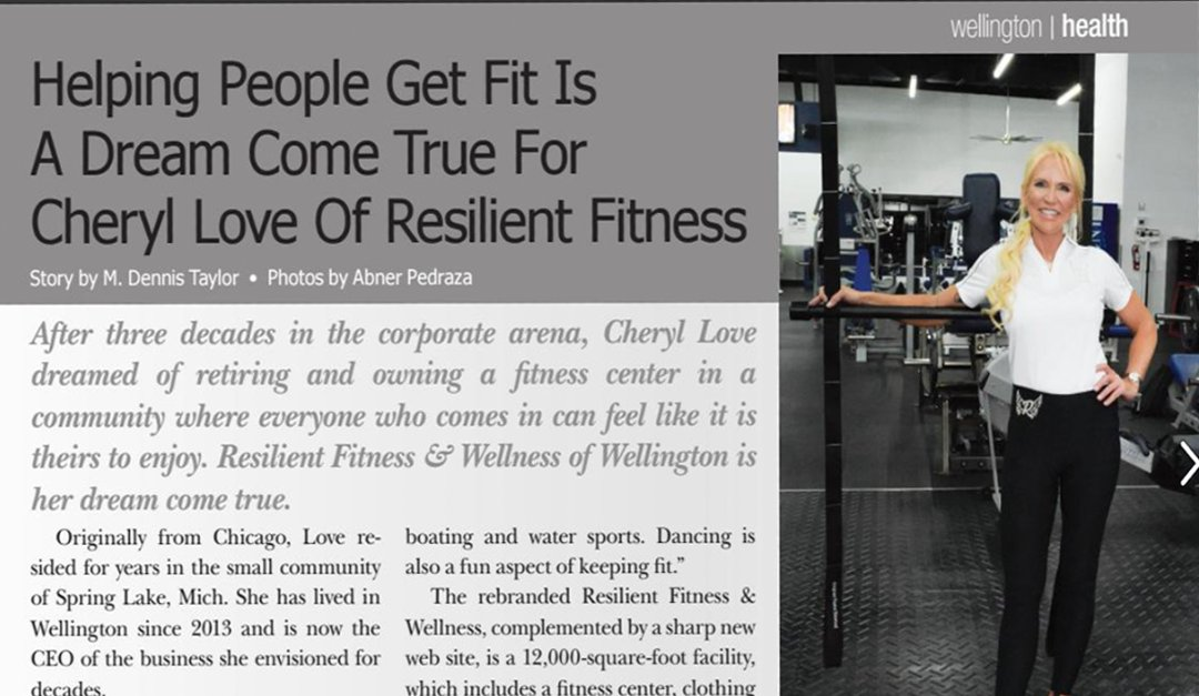 Resilient Fitness Featured in Wellington The Magazine