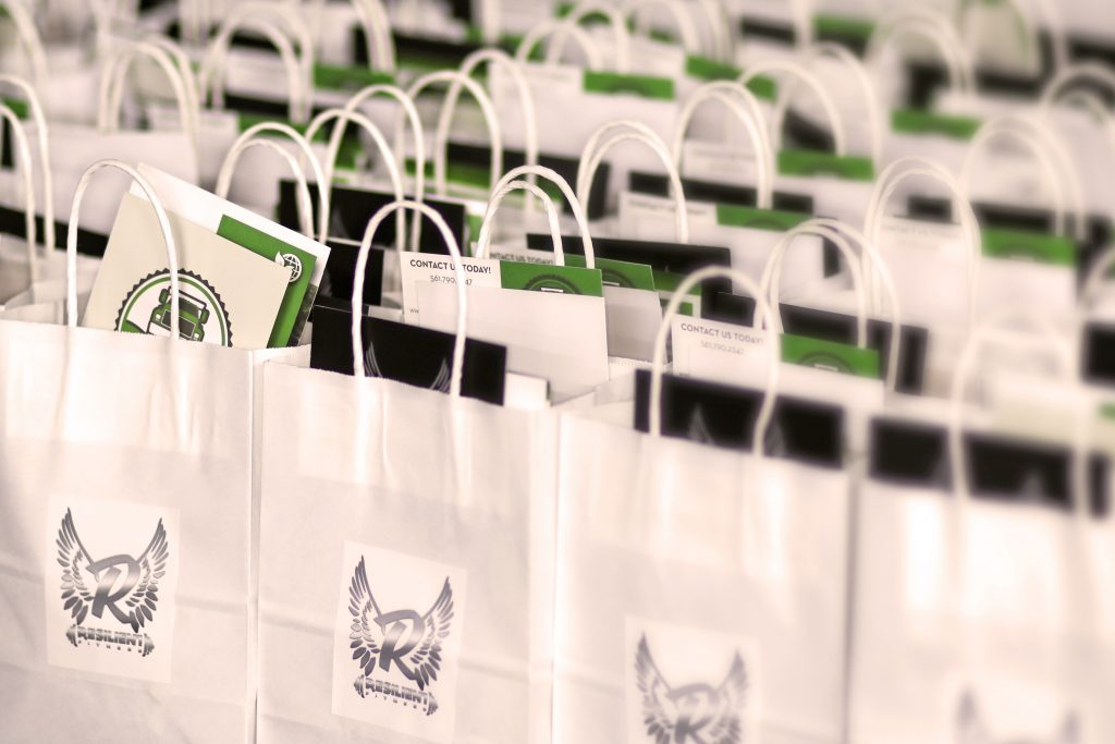 Resilient Fitness gift bags