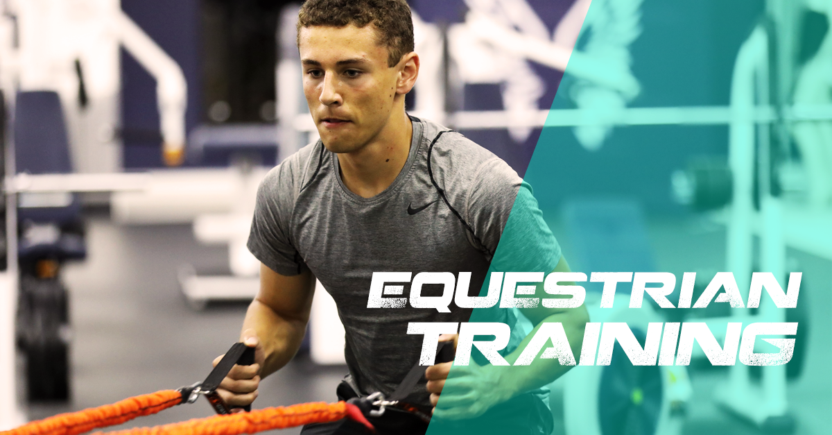 Equestrian athlete trains at Resilient Fitness
